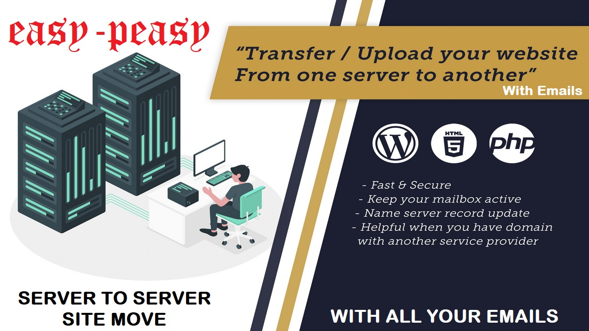How to Migrate Website From One SERVER to Another SERVER WordPress Migration Easy-Peasy With Emails