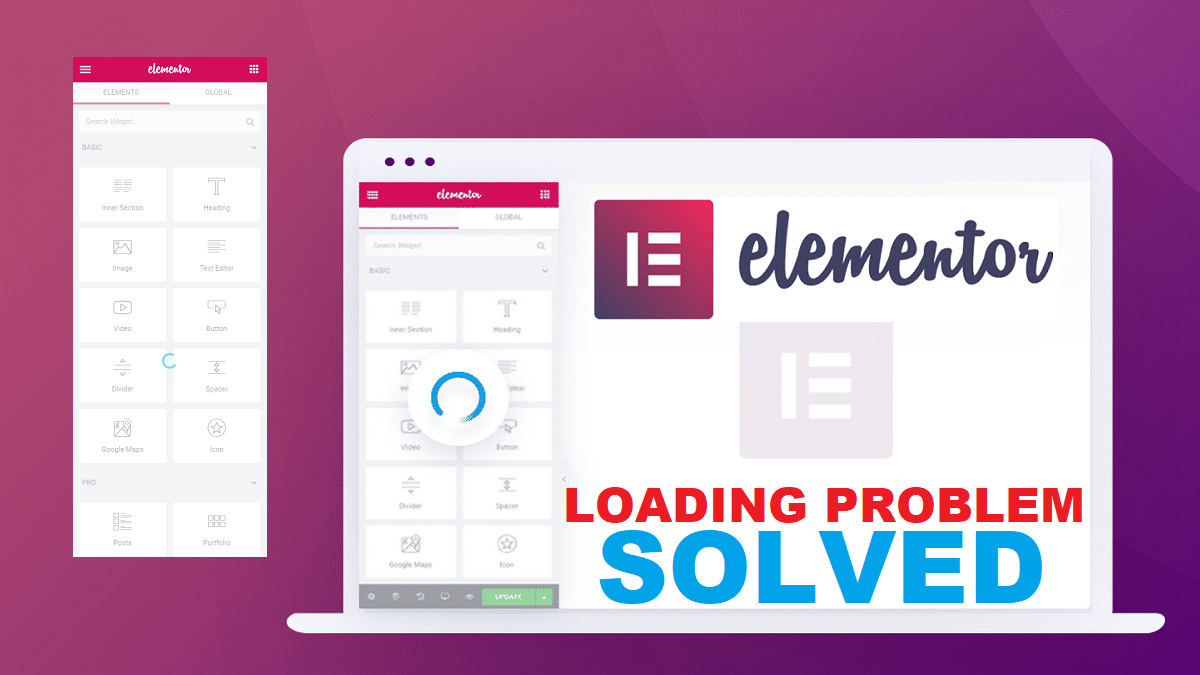Way To Solve Elementor Editor Side panel Not Loading Problem |  Stuck  Screen Error Solution Fixed